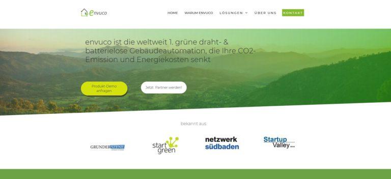 Envuco – bietet nachhaltige und smarte Gebäudeautomation die die globalen CO2-Emissionen verringern