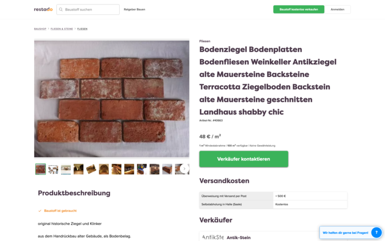 Restado – Baustoffe kaufen und verkaufen