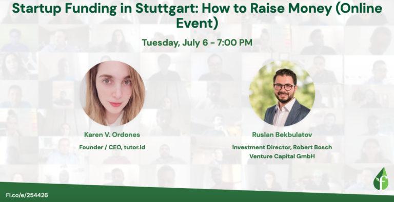 Startup Funding in Stuttgart: How to Raise Money (Online Event)