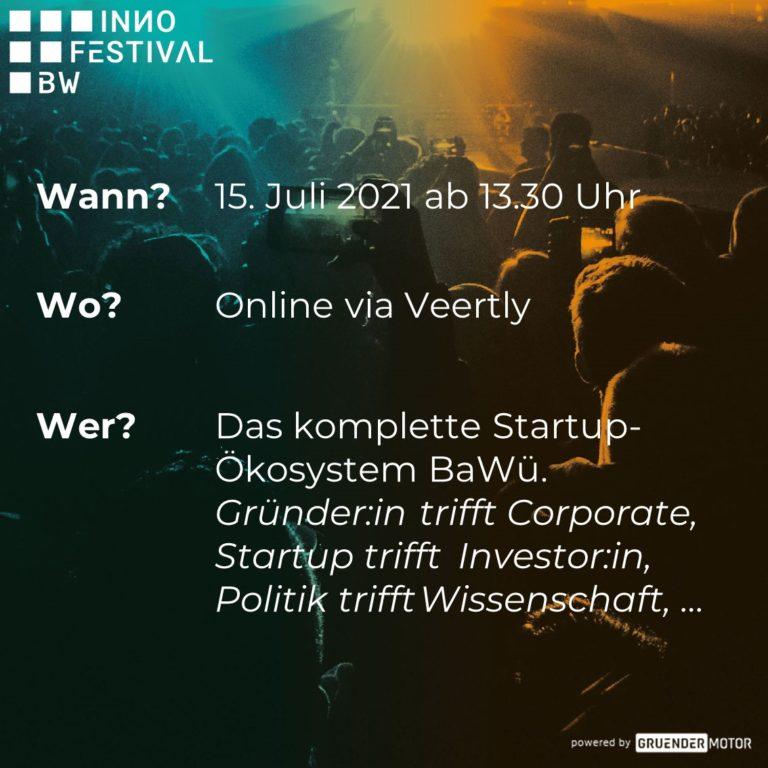 Am 15. Juli 2021 findet zum ersten Mal das INИO FESTIVAL BW statt
